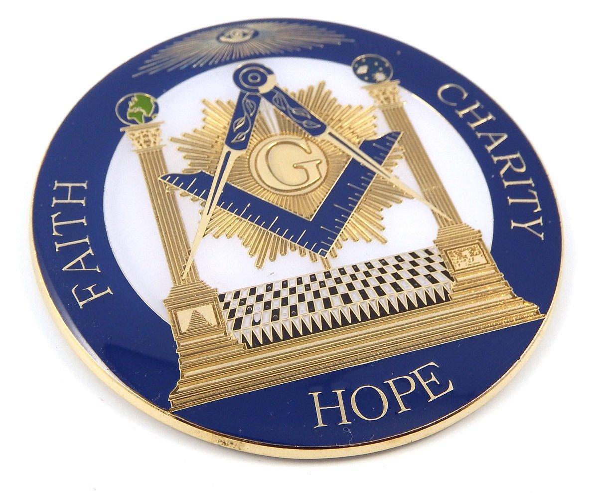 Aplique Mason. Faith Hope Charity 3 MAS28