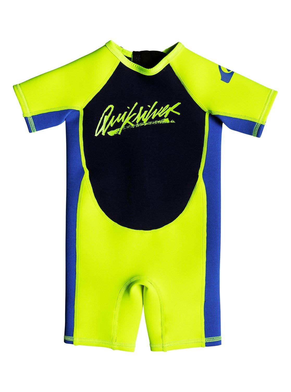 Quiksilver Baby Boys 1.5Mm Syncro - Short Sleeve Back Zip Springsuit For Toddlers Short Sleeve Back Zip Springsuit by Quiksilver
