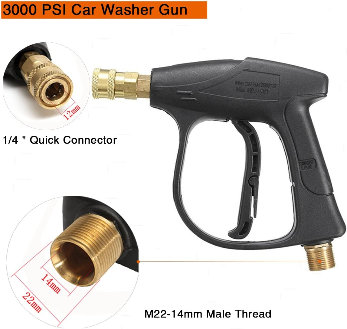 MATCC High Pressure Washer Gun 3000 PSI Car Washer Gun With 5 Nozzles for Car Pressure Power Washers: Automotive