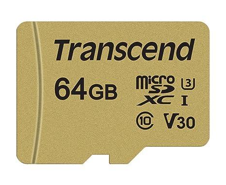 Transcend USD500S - Tarjeta microSD de 64 GB, microSDHC ...