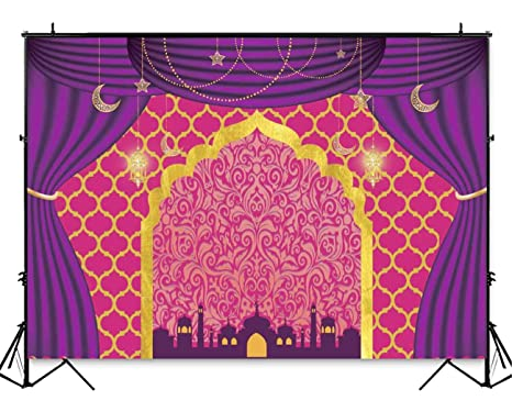 Amazon Com Funnytree 7x5ft Magic Genie Theme Party Backdrop