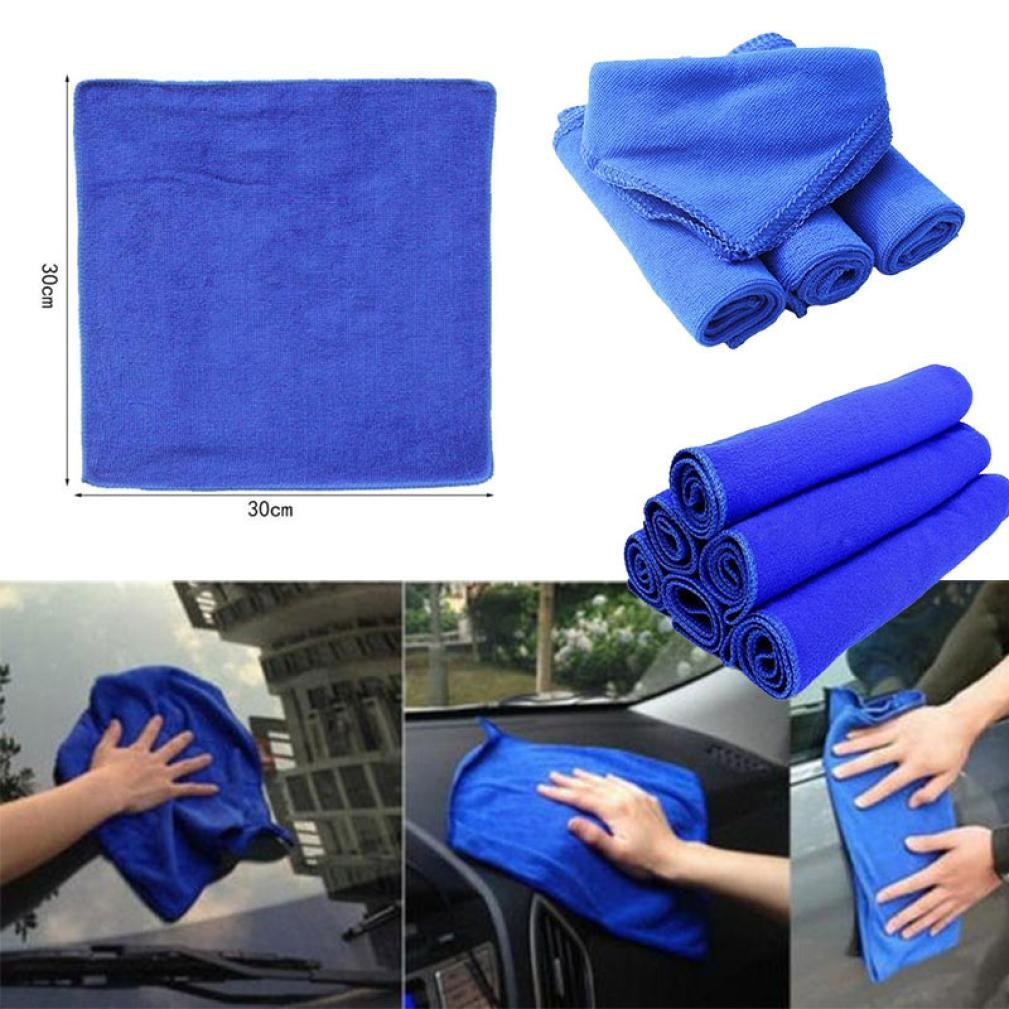1PC Car Microfiber Cleaning Towels Absorbent Wash Cloth Car Cleaning Tools - 30cm30cm Gessppo