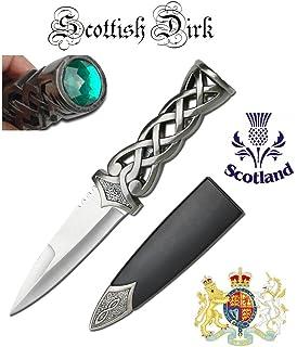 Amazon.com : Scottish Sgian Dubh 2 Piece Knife Set : Hunting ...