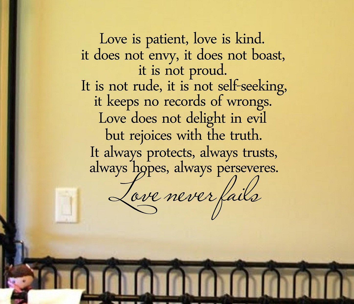 Amazon.com: #2 Love Is Patient, Love Is Kind. It Does Not Envy, It ...