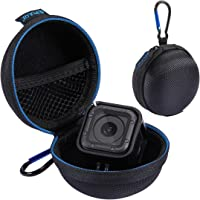 PULUZ Portable Round Case Stocker Super Mini Storage Case Box with D-Ring Locking Carabiner for GoPro HERO5 HERO4 Session Charger Cable Bag Earphone Storage