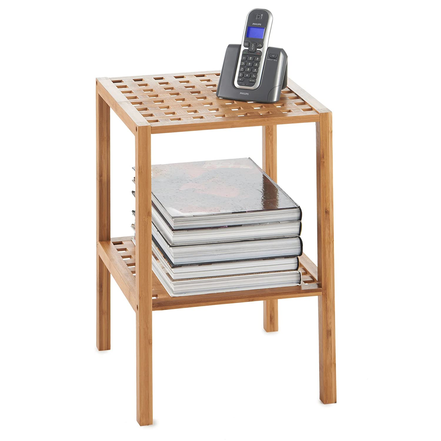 kitchen household rack essentials clothes bamboo amazon pwl brown home in shelf drying dp
