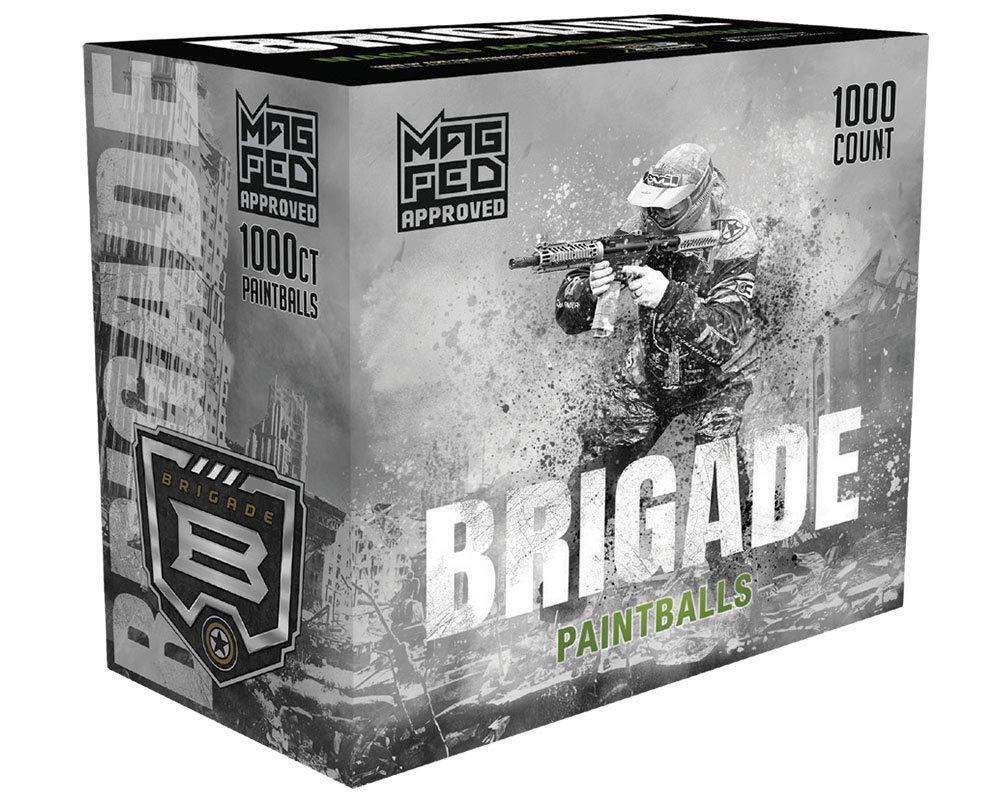 Pink Fill GI Sportz Brigade Paintballs 1000ct Grey Shell
