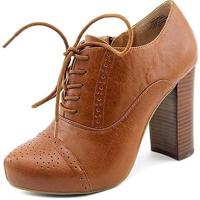 03de0f9372a CROWN Vintage Tessford Women Cap Toe Leather Brown Oxford Brown Size  6 B (M