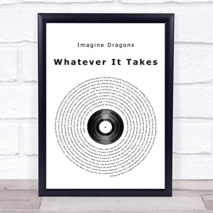 Imagine Dragons Whatever It Takes Letra De Vinilo Diseño Con Texto En Inglés Small A5 Amazon Es Oficina Y Papelería