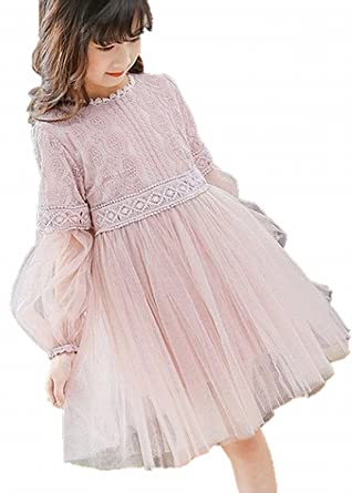 9ba15321dfc9b RoRykon 子供 ドレス 女の子 フォーマル キッズワンピース ガールズフォーマル女児 紗裙 子どもドレス 長袖 お姫様