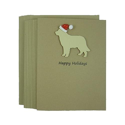 Dog Christmas Cards.Amazon Com Golden Retriever Dog Christmas Cards 10 Pack