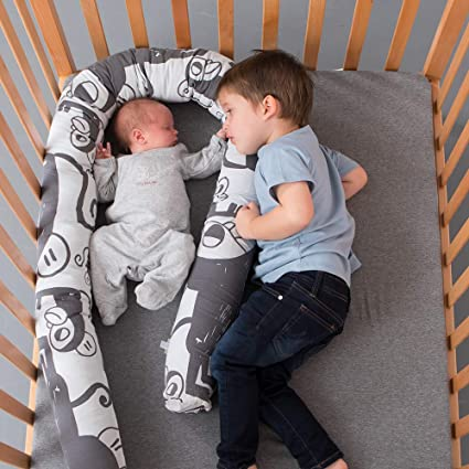 Head Bumper in Crib Size- 82.6 Inches Grey Hedgehogs Multipurpose Pillow Designed for Protection Bumper Pillow Snake for Ages 0+ SIMPLY GOOD