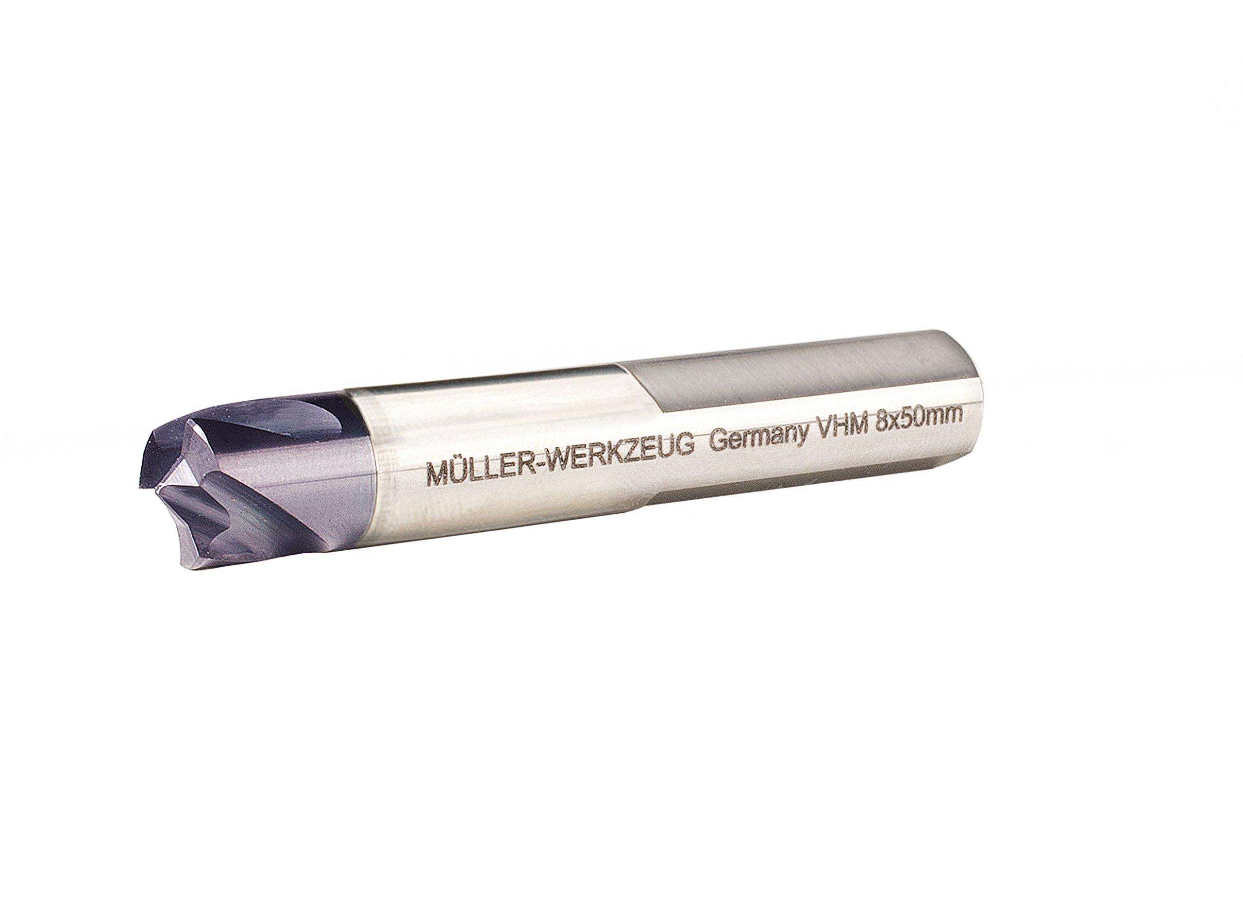 Mueller-Kueps 222 051 8 mm x 50 mm Carbide Spot 3-Edged Welding Drill