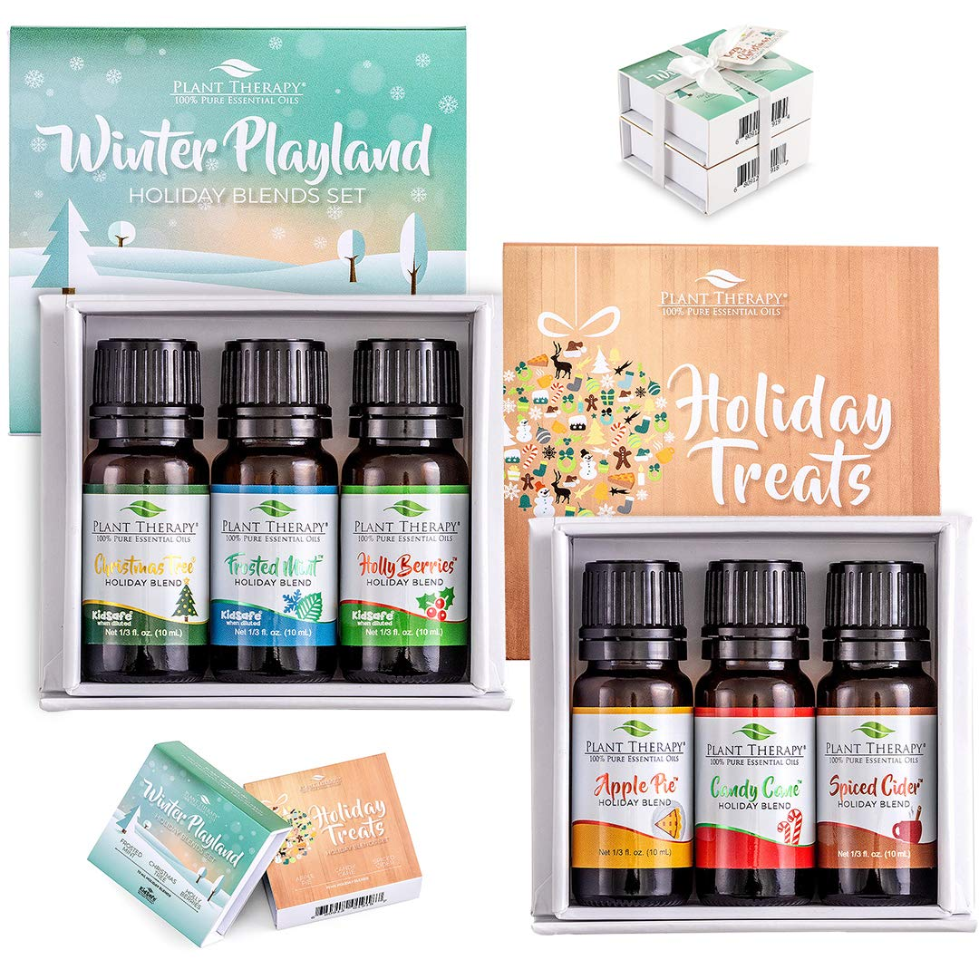 Plant Therapy Cozy for Christmas Holiday Blends Gift Set 100% Pure, Undiluted, Natural Aromatherapy, Therapeutic Grade 10 mL (⅓ oz) by Plant Therapy