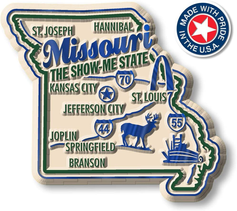 Premium State Map Magnet - Missouri