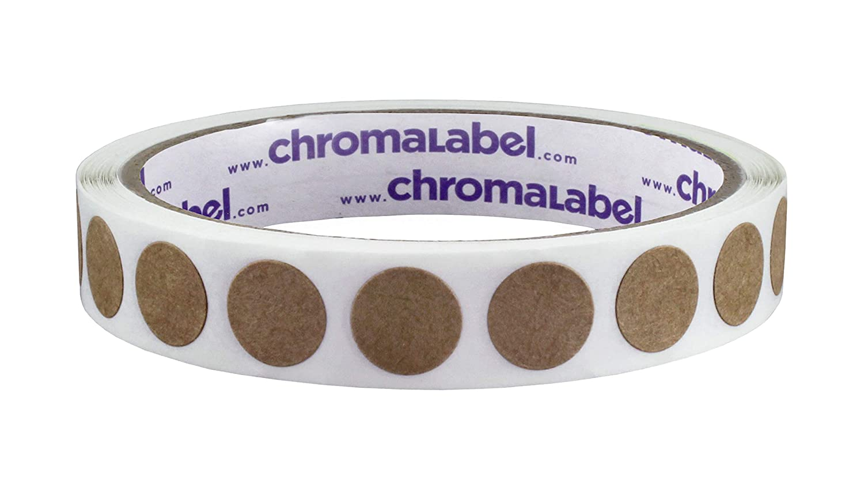 ChromaLabel Kraft Dot Labels | 500/Roll (2 inch) CAL03695A