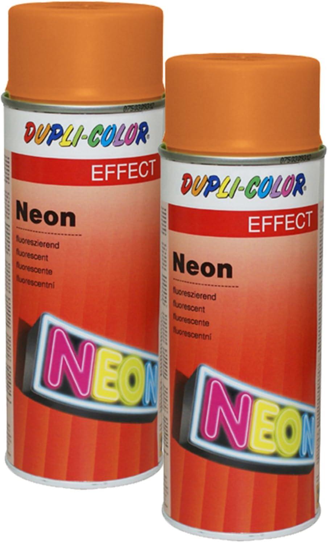 2x Dupli Color Neon Orange Tagesleuchtfarbe Lack Metall Hartkunststoff 150 Ml Auto