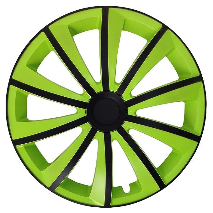 Tapacubos - Tapacubos Tapacubos Gral verde 16 pulgadas 16 R16 universal apto para casi todos los vehículos estándar con llantas de acero por ejemplo Volvo: ...