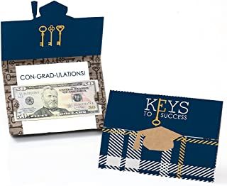 product image for Big Dot of Happiness Keys to Success - Graduation Party Money Holder Cards - Set of 8