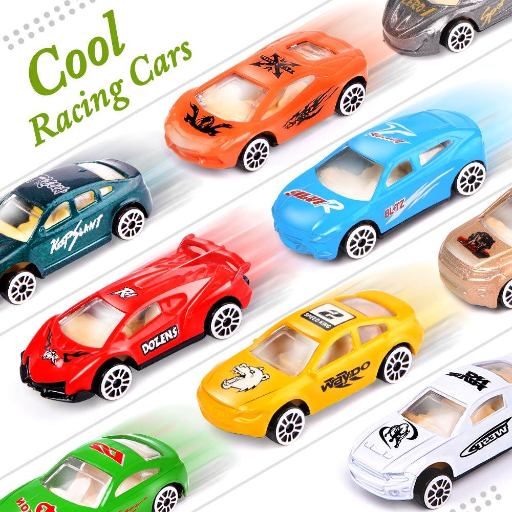 UMIKU 18 Pack Easter Cars Toys Easter Eggs Mini Die-Cast Cars Easter Basket Stuffers Easter Egg Fillers for Kids Surprise Egg Hunt Party Favors Premium Metal Car Toys Easter Gifts Class Prizes by UMIKU (Image #2)