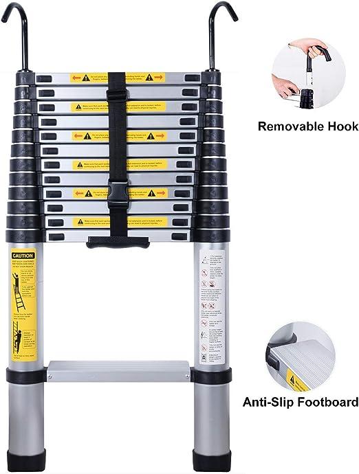 AFFC Mochila Ampliable Escalera telescópica Pedal Aluminio ...