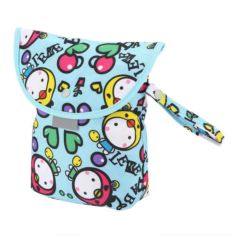 Portable Water-Resistant Cloth Tissue Storage Bag Infants Diapers Wet Bag Sanitary Pad Storage Bag for Newborn Children Women Flower Baby Diaper Bag