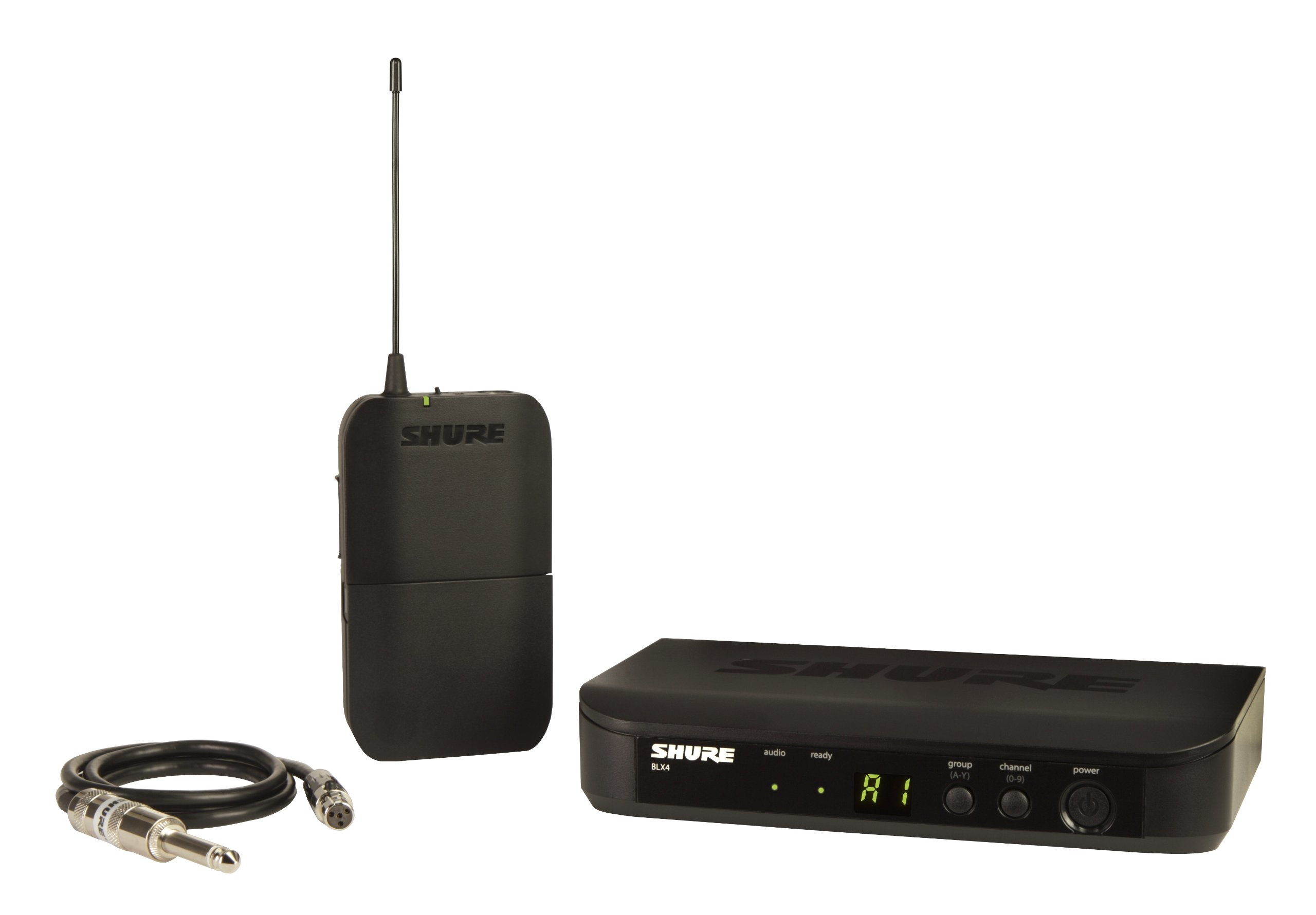 Shure BLX14 Bodypack Wireless System with WA302 Instrument Cable, J10 by Shure