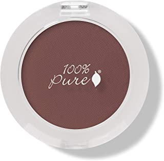 product image for 100% PURE Pressed Powder Eye Shadow (Fruit Pigmented), Bronze, Shimmer Eyeshadow, Buildable Pigment, Easy to Apply, Natural Makeup (Matte Warm Reddish Brown) - 0.07 oz