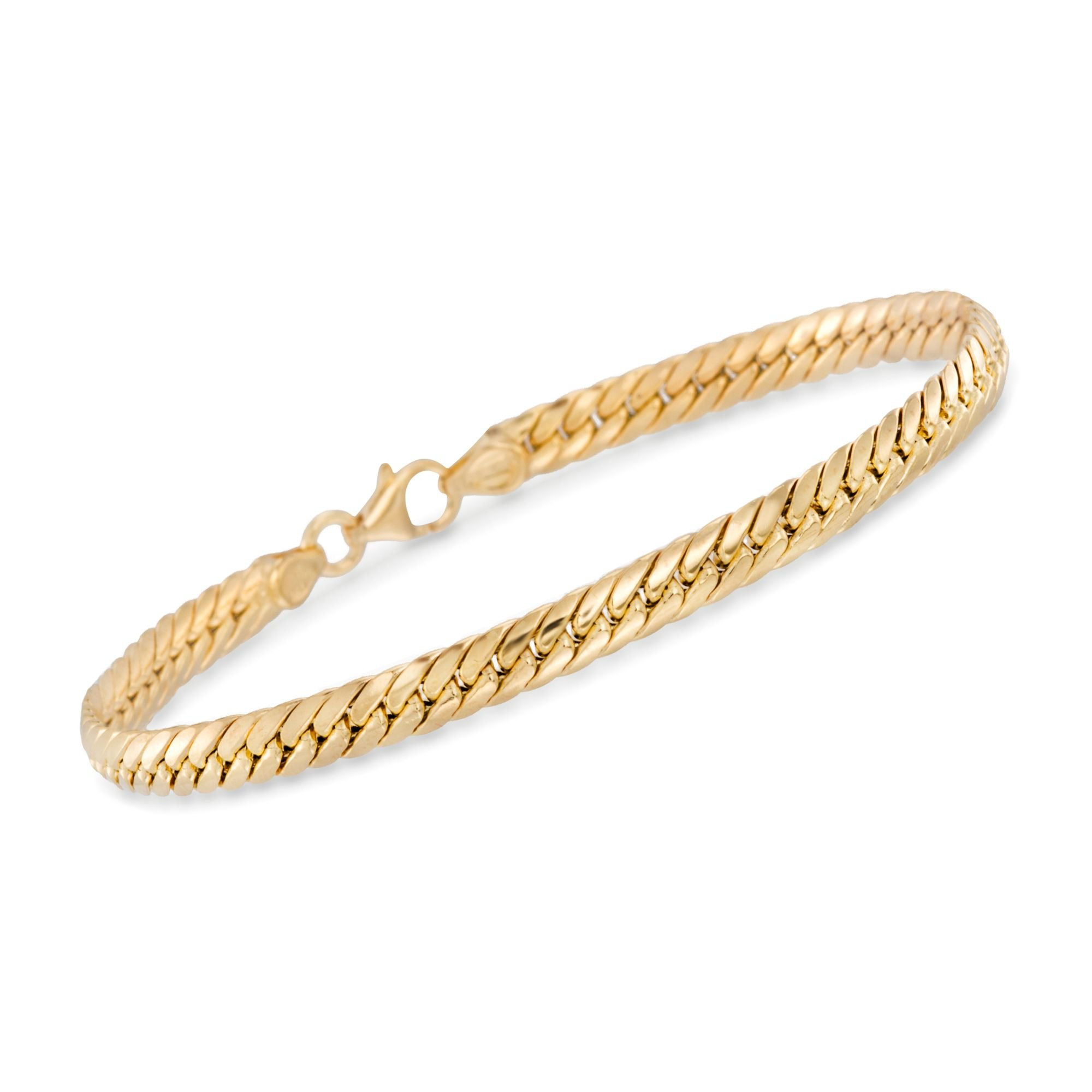 Ross-Simons 14kt Yellow Gold Curb-Link Bracelet, Made in Italy, Includes Presentation Box
