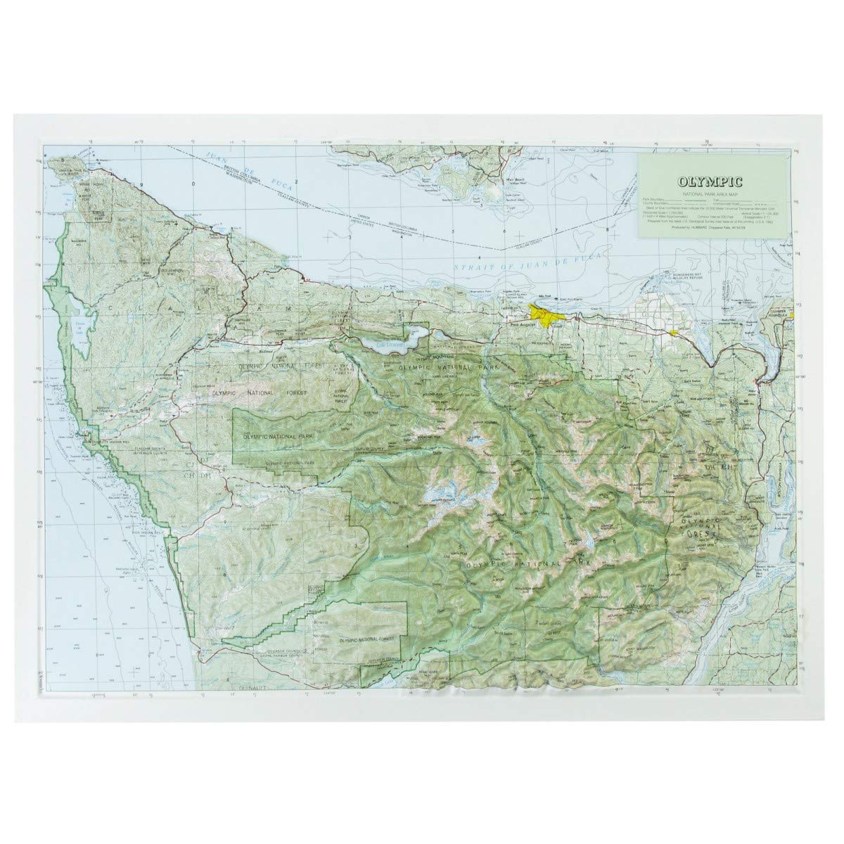 Hubbard Scientific Raised Relief Map 417 Olympic National Park ...