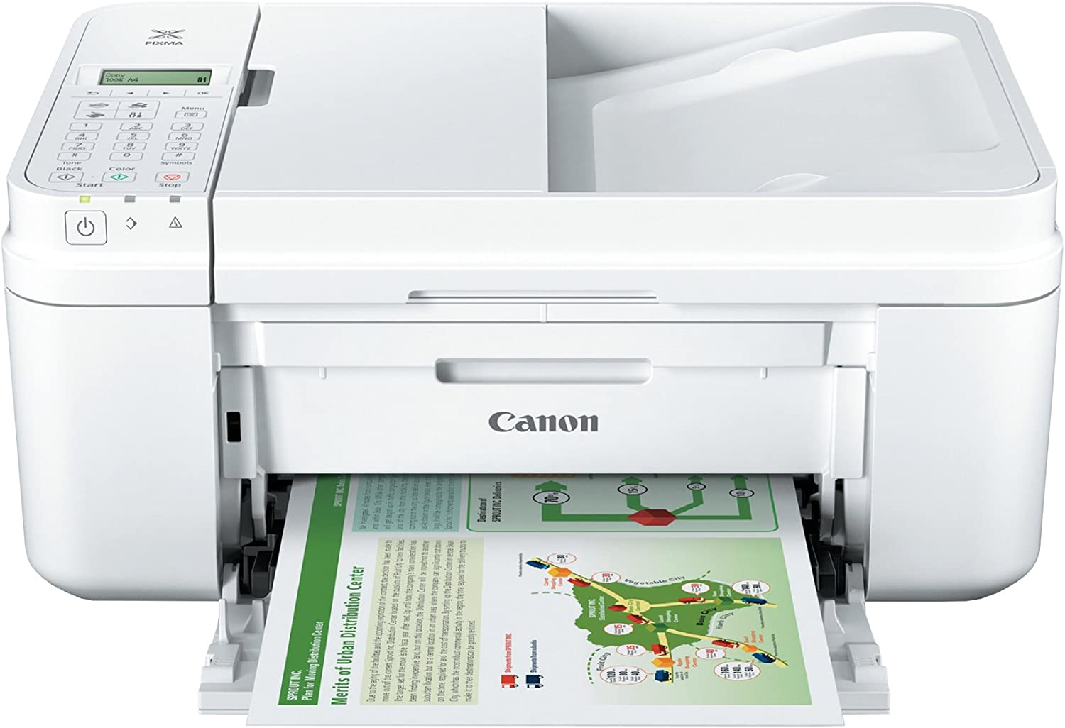 Canon PIXMA MX492, Wireless All-In-One Small Printer with Mobile or Tablet Printing, AirPrint and Google Cloud Print Compatible, White