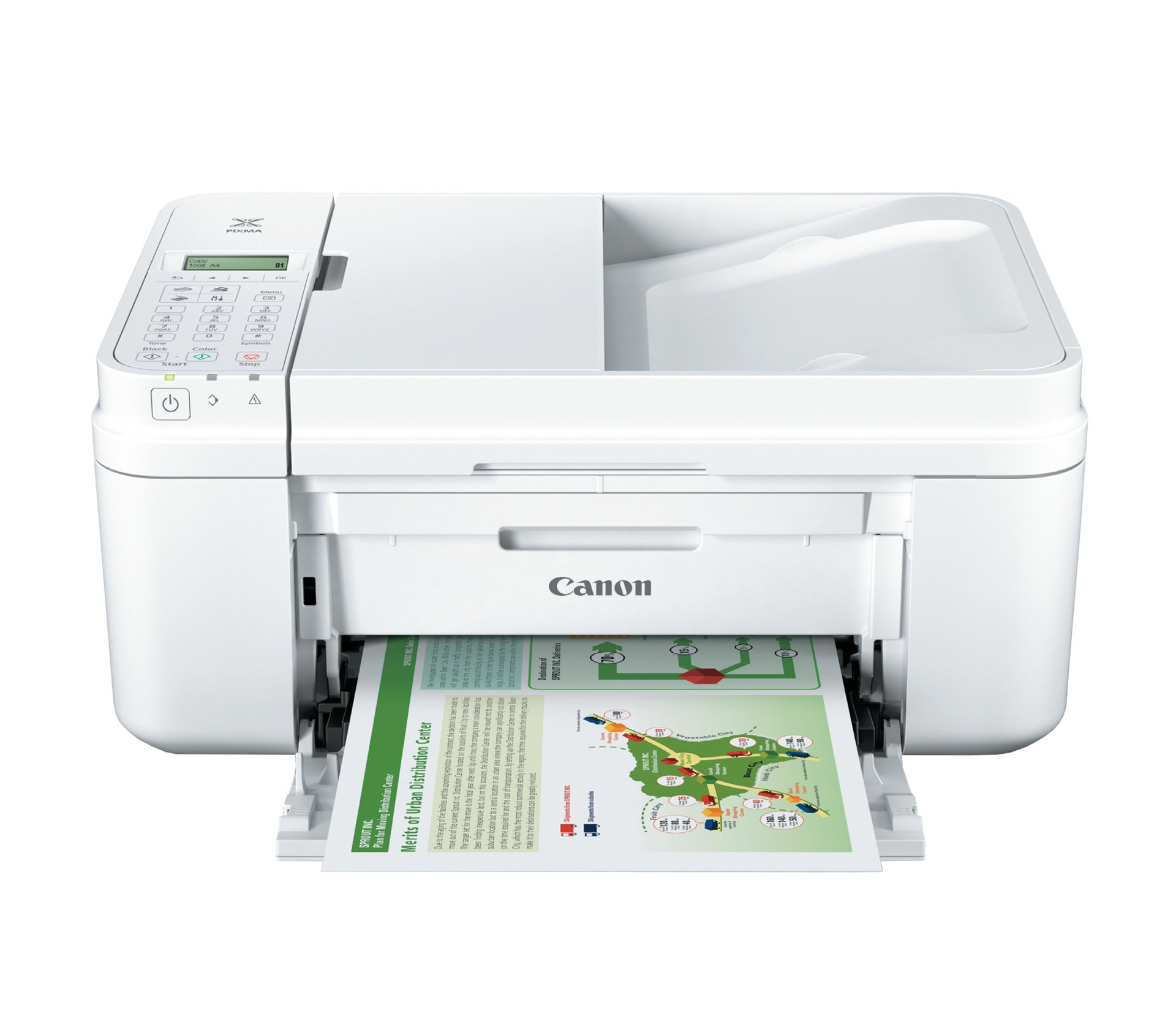 Canon PIXMA MX492, Wireless All-In-One Small Printer with Mobile or Tablet Printing, AirPrint and Google Cloud Print Compatible, White by Canon (Image #1)