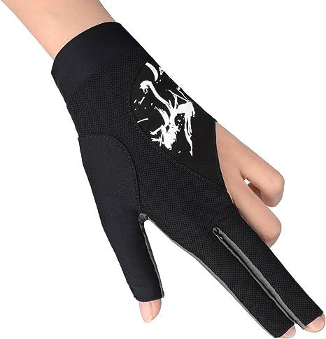 Boodun actualización profesional 3 dedos guante de billar ...