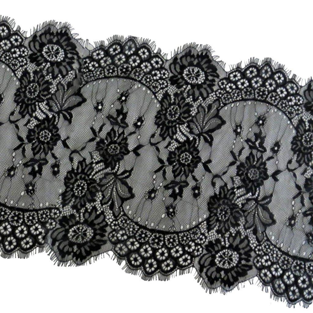 MagiDeal 33cm Apparecchio Nastro Della Decorazione Merletto Ciglia Per Mestiere Cucire Vestiti Decorazione - Bianca