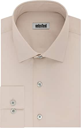 Kenneth Cole Reaction Men's Unlisted Dress Shirt Regular Fit Solid Spread Collar