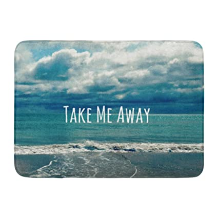 Amazon.com: Ablitt Bath Mat Ocean Take Me Beach Quote Quotes ...
