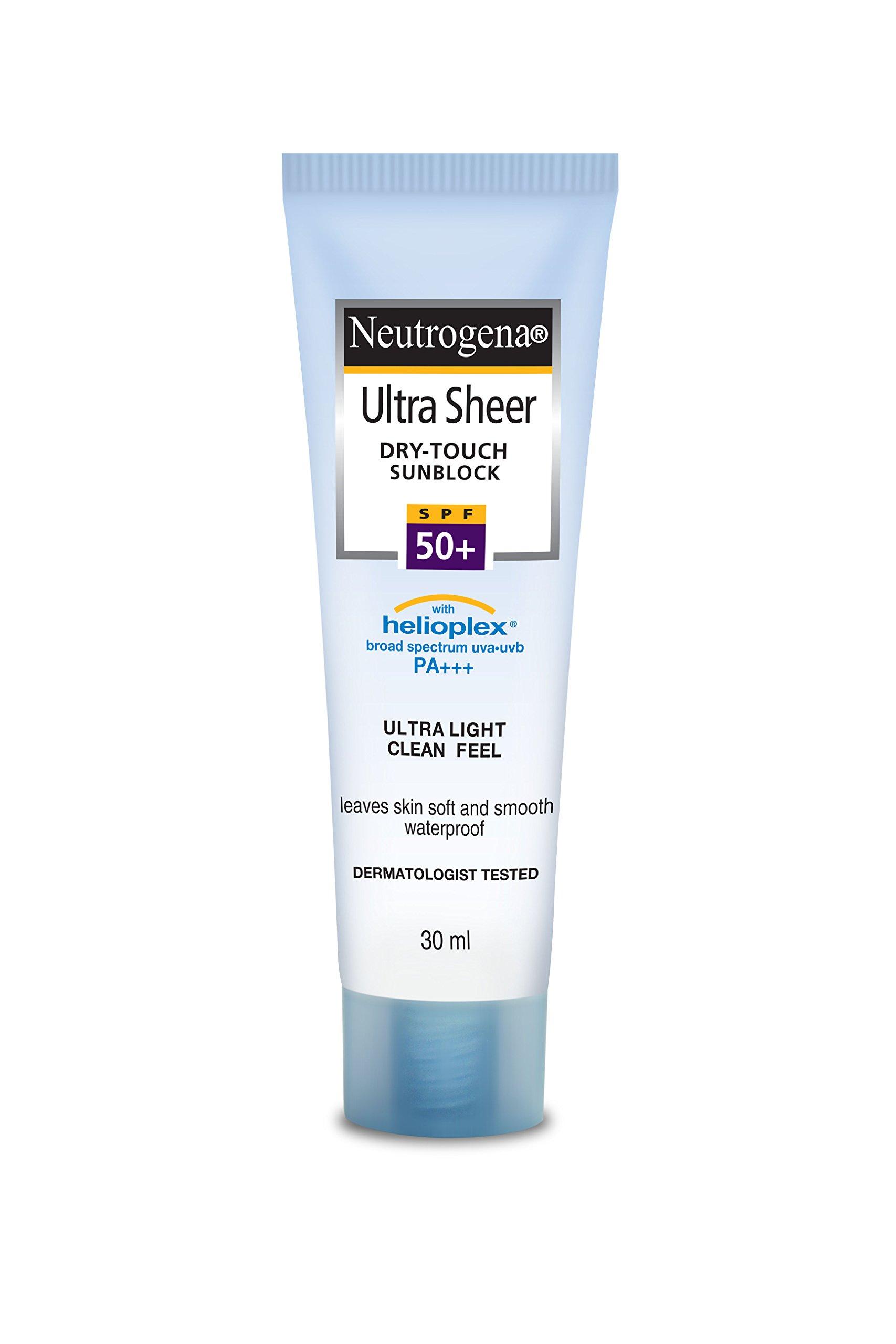 Neutrogena Ultra Sheer Dry Touch Sunblock, SPF 50+, 30ml product image