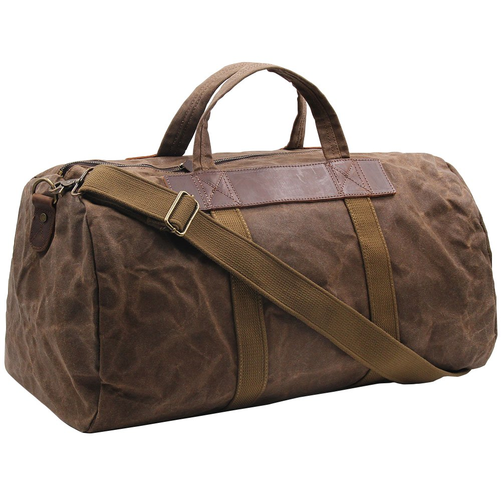 cde6cecc10 durable modeling Vintage Canvas Classic Weekender Travel Duffel Leather  Sports Gym Bag Shoulder Carryon Luggage Great