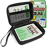 FitSand(TM) Carry Travel Zipper EVA Hard Case for Monopoly Deal Card Game - Black Box, Blacker Box, Best Protection for Monopoly Deal Cards