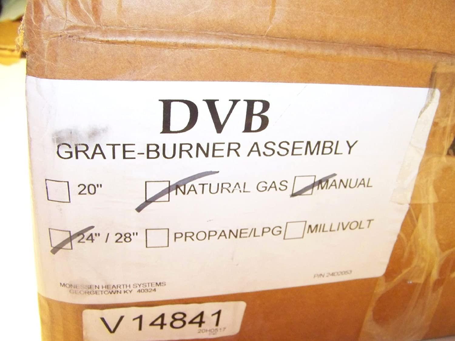 Amazon.com: Monessen DVB24NM Natural Gas Fireplace Grate Burner Assembly: Home & Kitchen