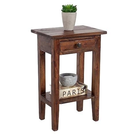 Beistelltisch Kleiner Tisch.Invicta Interior Massiver Telefontisch Hemingway Mahagoni Shabby Chic Coffee Beistelltisch Landhaus Stil Vintage Kleiner Tisch