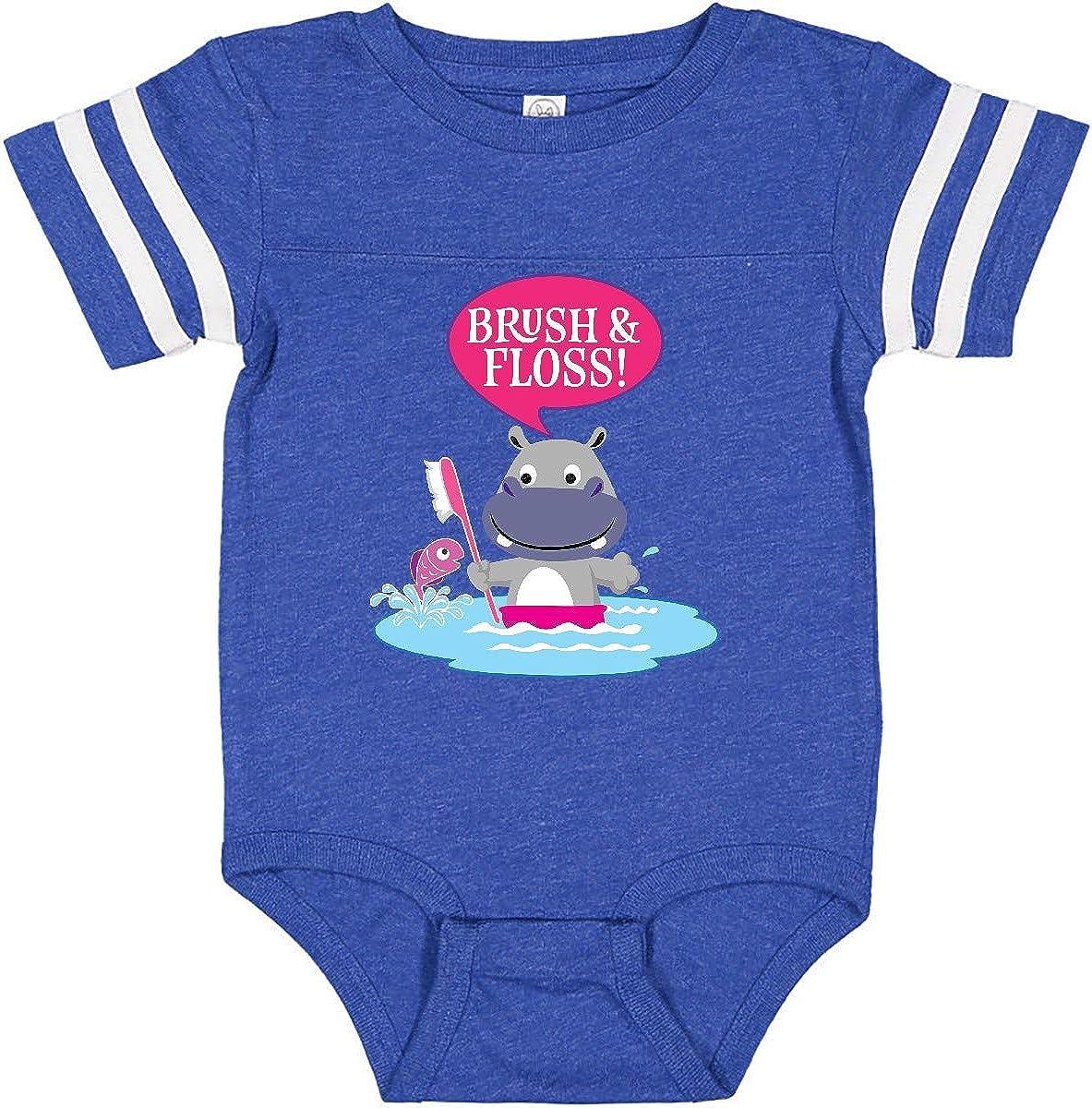 inktastic Dental Hygiene Brush and Floss Infant Creeper