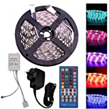 5m RGBW LED Strip Light Full Kit, 12V 5050 600LEDs Flexible Self Adhesive Tape, with 40 Key Remote Controller + AU Plug Power Supply (IP21 Not Waterproof, RGBW)