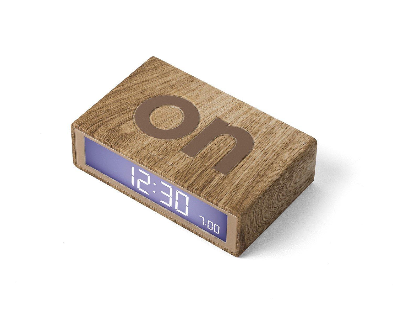 Lexon Flip On/Off Alarm Clock (Light Wood) by Lexon (Image #3)