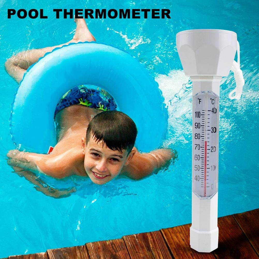 Delaman Floating Water Thermometer for Indoor Outdoor Swimming Pool Spas Fish Tank Hot Tubs Pool Thermometer