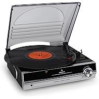 Auna TBA-928 • platine Vinyle avec haut-parleur • entraînement par courroie • 2 Vitesses • 33 et 45 Tours • aiguille incluse • Noir