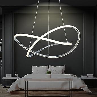 LED Pendelleuchte Dimmbar   Warmweiß   Ø 60cm   Höhenverstellbar ...