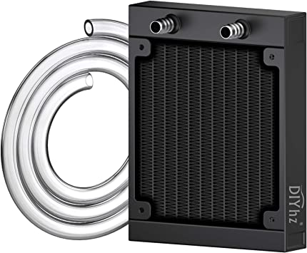 2x G1//4 10 Pipe Aluminum Heat Exchanger Radiator PC CPU Water Cooling 120mm