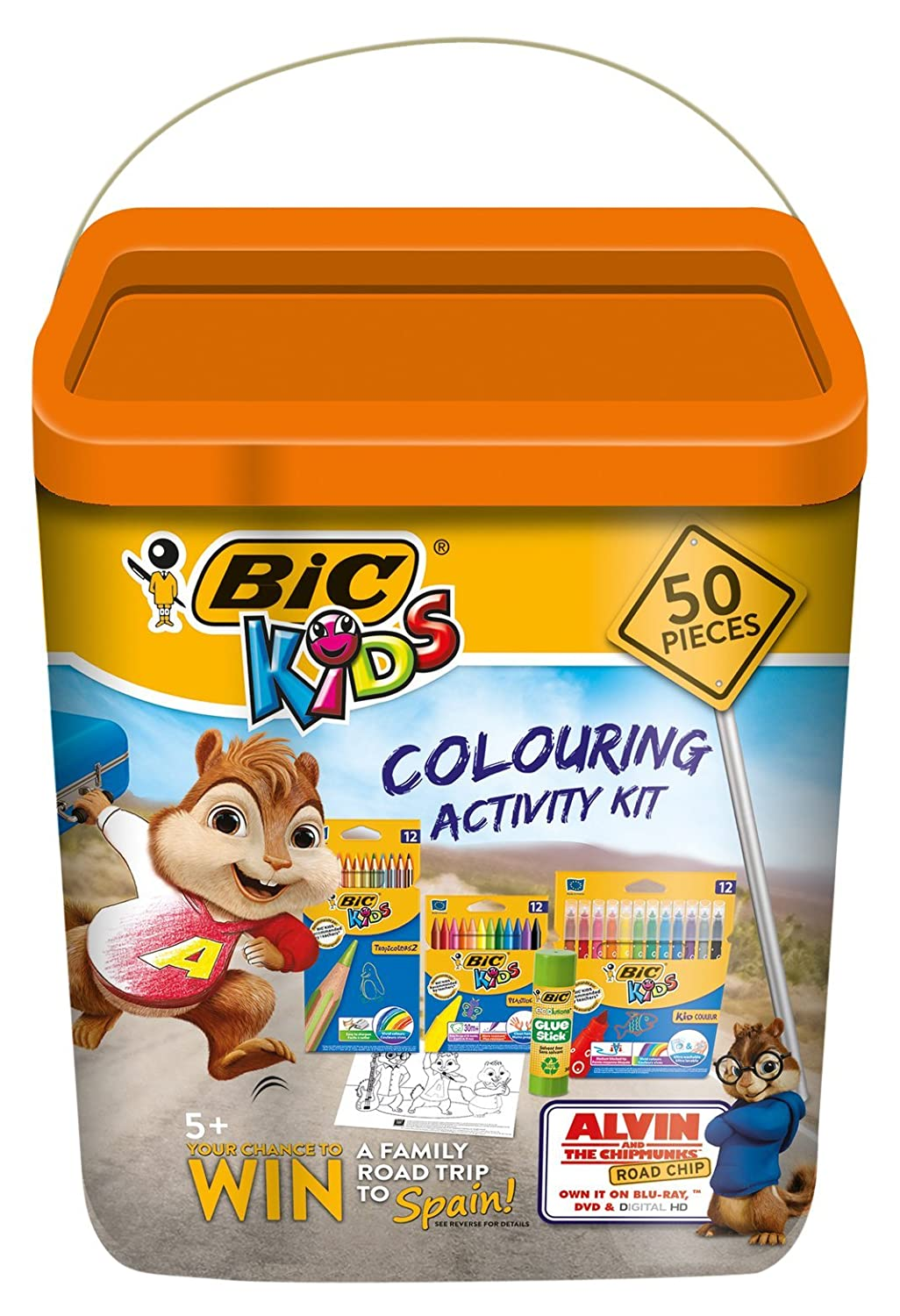 BiC Kids\' Alvin and the Chipmunks Colouring Activity Kit - Multi ...