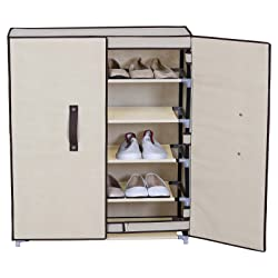 22. WOLTU 6 Tiers Portable Shoe Rack with Dustproof Cover